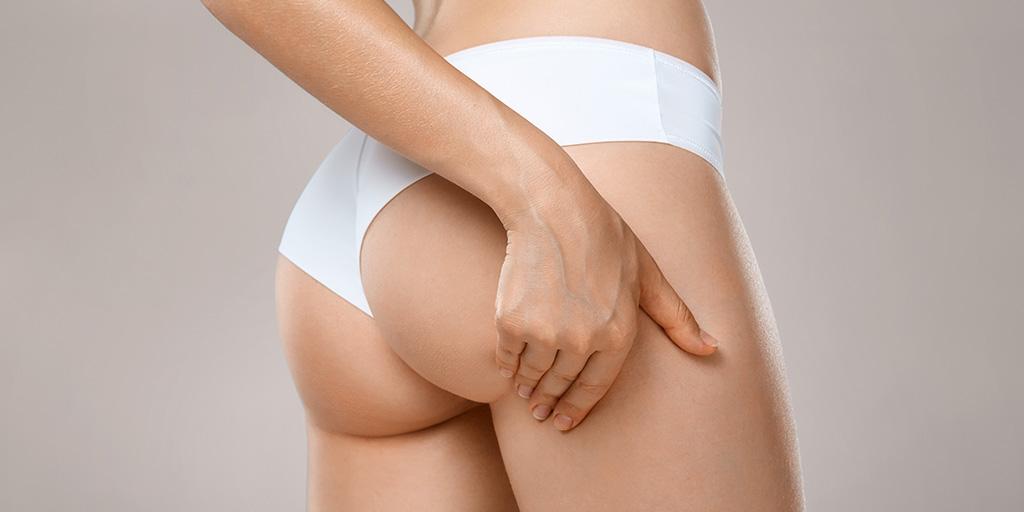 A woman's buttocks