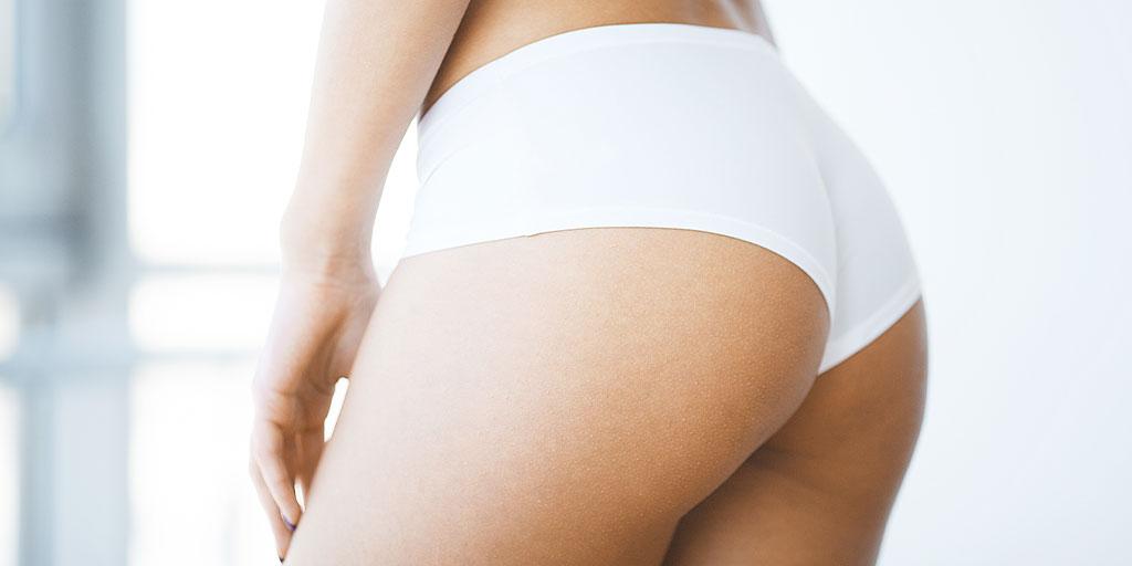 Womans buttocks