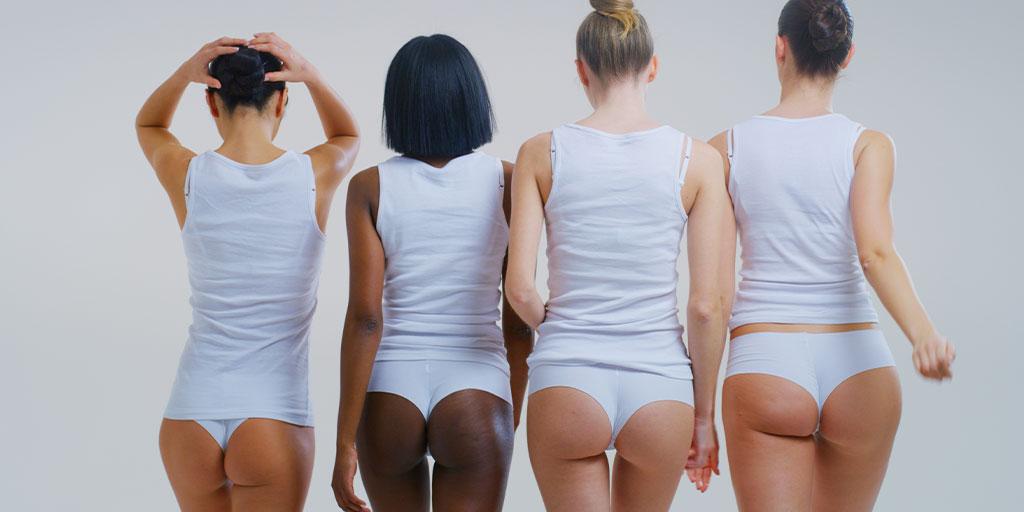 Group of women in their underwear